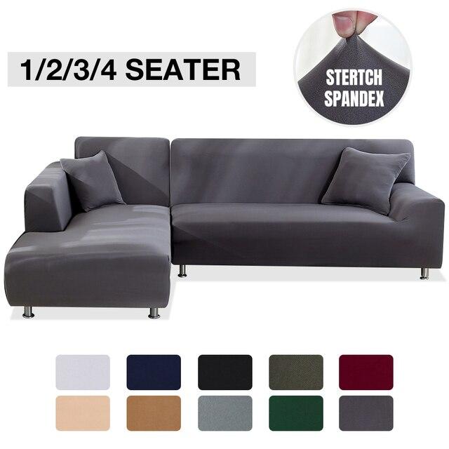 Эластичный стрейч диван Ipad Mini 1/2/3/4 местный Sof Чехол Диванные покрывала для универсального диваны для гостиной, вид в разрезе L фасонный чехол