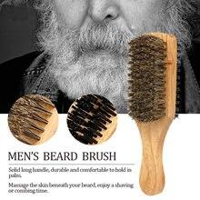 Двухсторонняя Мужская щетка для бороды волос на лице гребень