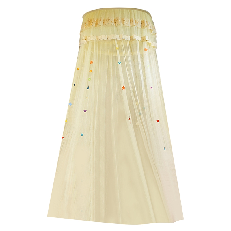 HOT Children Elegant Tulle Bed Dome Bed Netting Canopy Circular Round Dome Bedding Mosquito Net,cream color