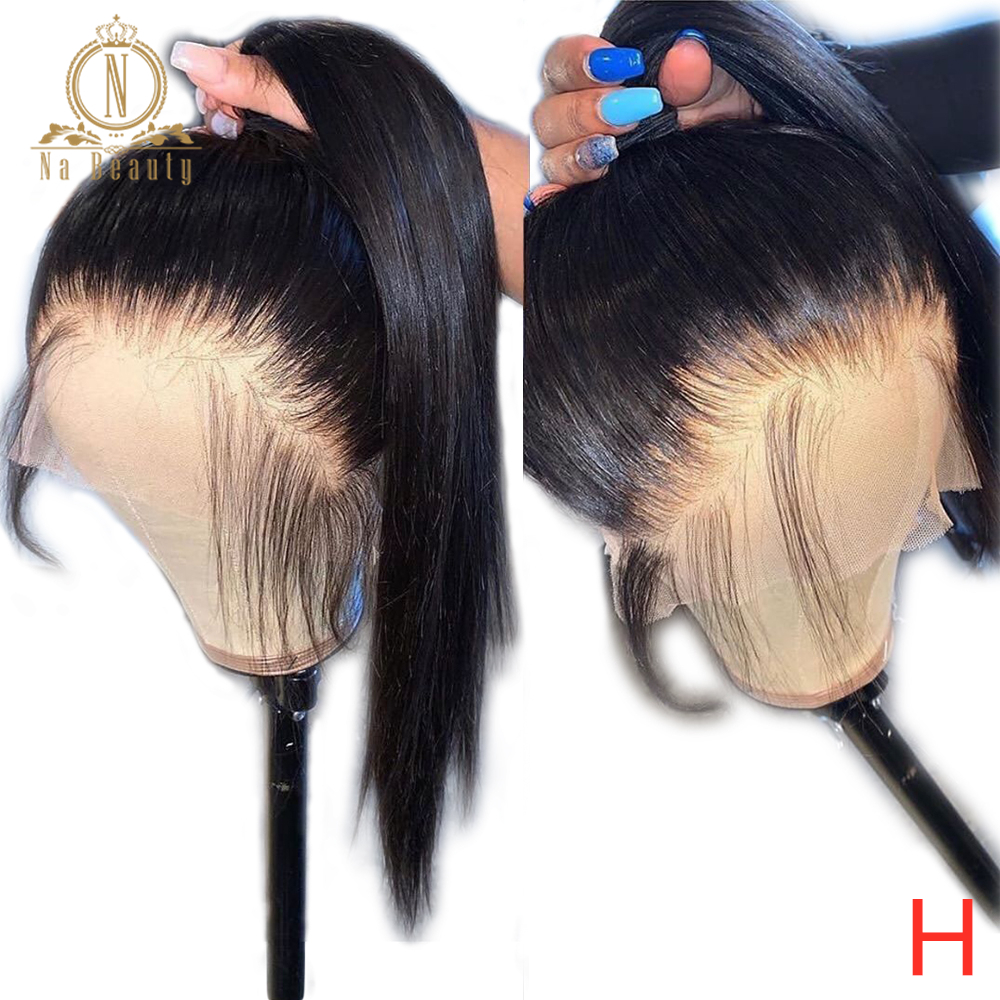Full Lace Human Hair Wigs Pre Plucked With Baby Hair Full Lace Wig Human Hair Remy Straight Wigs For Black Women Na Beauty 180