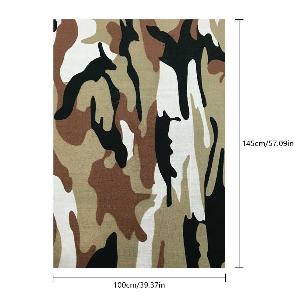Tecidos camuflados de algodão para costura, 100x145cm, costura, artesanato e faça você mesmo