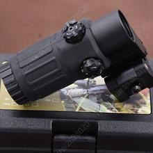 Mira telescópica para Rifle, visor táctico de punto rojo, G33, 3x, con tapa lateral, Weaver, Picatinny Rial, lupa de montaje Bk M7467