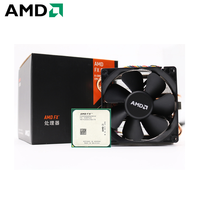 AMD FX-Series FX 8300 Socket AM3+ 95W 3.3GHz 940-pin Eight-Core Desktop Processor CPU fx8300 socket am3+ Contain Cooler Fan 1