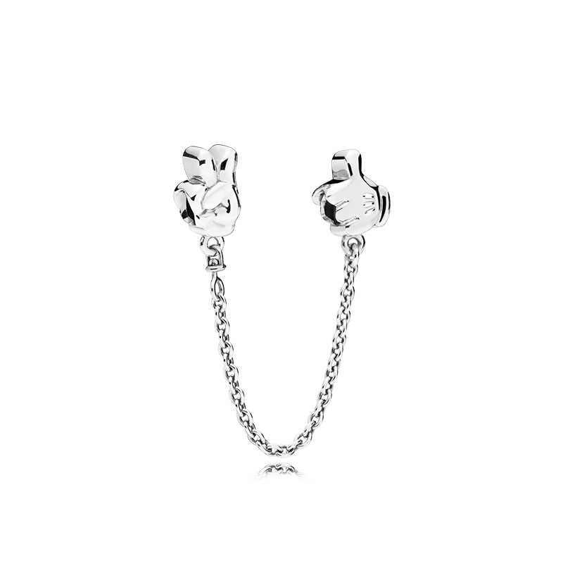2020 Fit Originele Pandora Charms Armband Zilver Kleuren Veiligheid Chain Heart Charm Bead Diy Sieraden Maken Minnie Kasteel Berloque