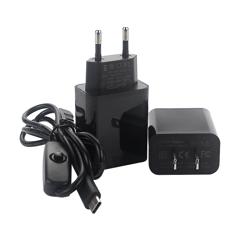 5V 3A Raspberry Pi 4 Power Adapter EU/US Power Supply With USB-C Switch Button Charger Cable For Raspbery Pi 4 Model B