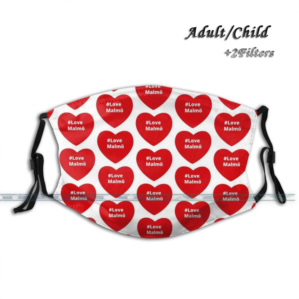 Love <font><b>Malmo</b></font> - Hashtag Your Love Heart Fashion Print Face Mask Reusable Washable Funny Pm2.5 Filter Mouth Mask Love <font><b>Malmo</b></font> Heart image