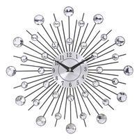 Vintage Metal Crystal Sunburst Wall Clock Large Morden Wall Clocks Design Home Art Decor 33cm Large Size