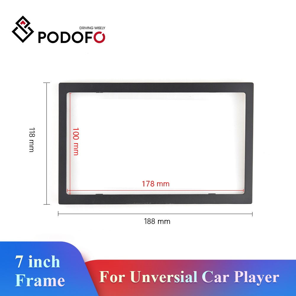 Podofo 2 DIN 7 Inch Unversial Car Player Frame 2din Car Autoradio Frame For Volkswagen Nissan Hyundai Toyota CR-V KIA