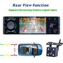 Radio samochodowe 3006 HD 4 1 Cal Radio samochodowe z ekranem dotykowym i modułem Bluetooth MP5 odtwarzacz z kamery cofania tanie tanio Camlive W desce rozdzielczej Angielski 12 v