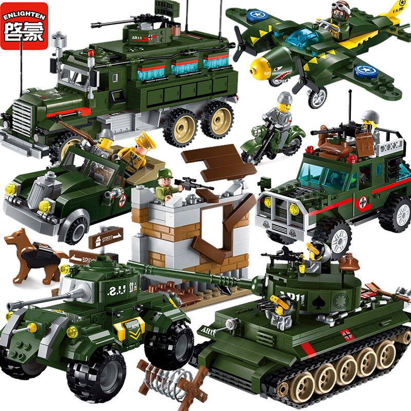 Military Compatible Legoed Ww2 German Base Sets Vehicle Tank Planes World War 1 2 Ii Soldiers Model Building Blocks Kids Toys