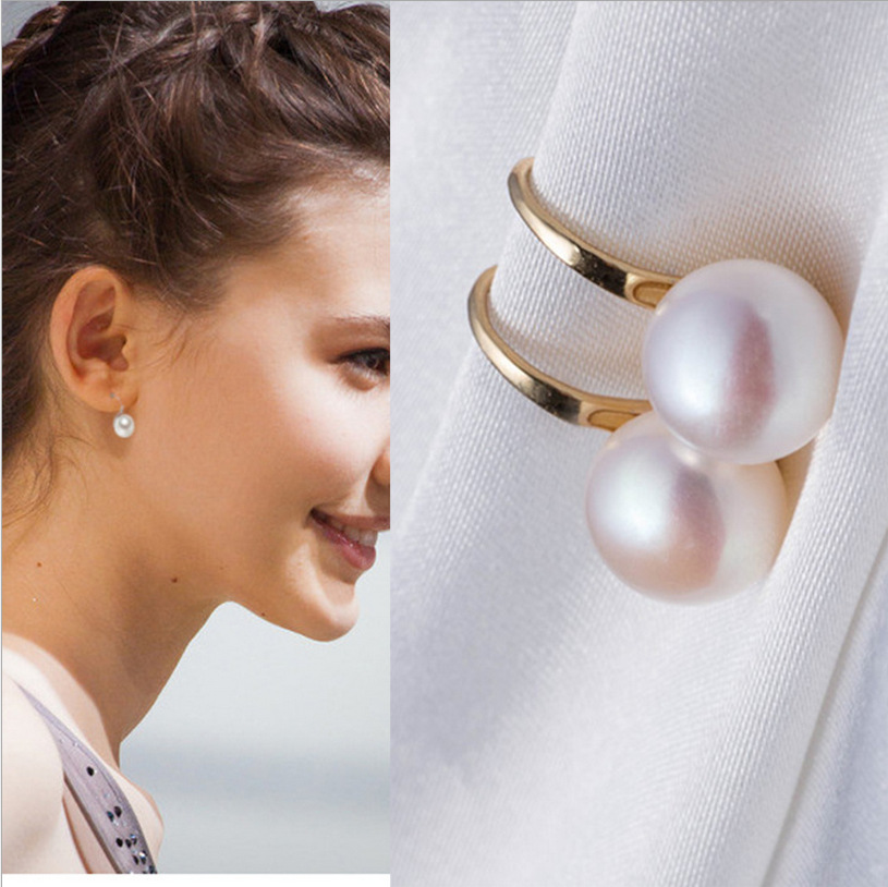 2019 Hot Fashion Brincos Bijoux Silver Plated Earrings White Simulated-pearl Dangle Drop Earrings For Women Party Jewerty Gifts