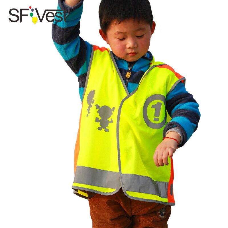 Sfvest CHILDREN'S Reflective Vest Safe Vest Riding Safe Service Kids Cross Safe Reflective Clothing