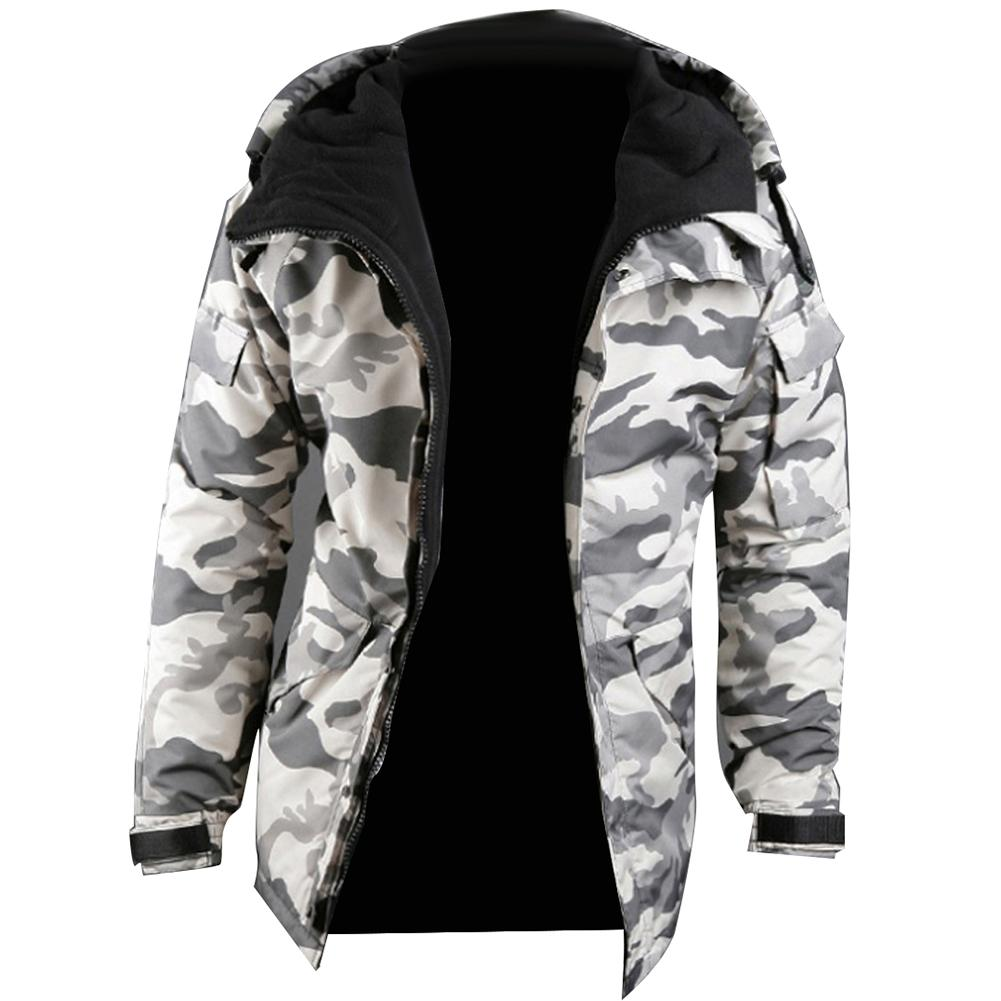 <font><b>Winter</b></font> Ski Coat Camouflage <font><b>Style</b></font> Men's Hooded Green White Color Mens <font><b>Jacket</b></font> Bomber <font><b>Jacket</b></font> Camouflage <font><b>Jacket</b></font> for Men 2020 image
