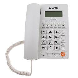 Telefone de linha fixa com fio escritório em casa telefone de mesa retroiluminado display caller id