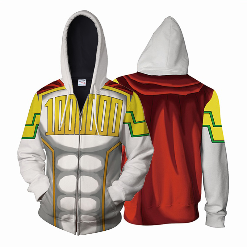 My Hero Academia Costumes All Roles Gym Suit Sports Wear Outfit <font><b>mirio</b></font> Hoodies <font><b>Cosplay</b></font> Fashion 3D zipper Hoodie Sweatshirts image