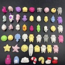 20 piezas Kawaii divertido Anti-juguetes blandos antiestrés apretar aumento aplasta animales Anti estrés broma Juguetes para los niños
