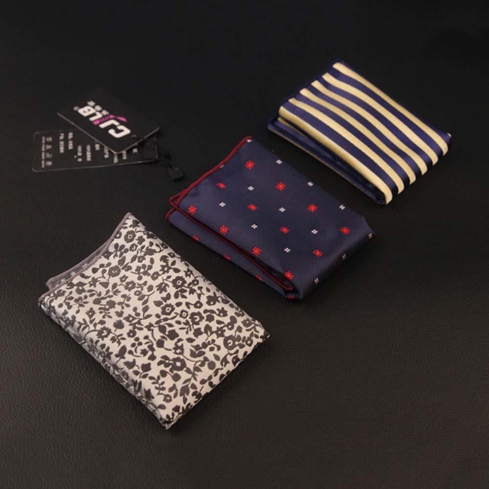 Fashion Men's Handkerchief Polka Dot Stripe Floral Printed Handkerchief Colorful Silk Hanky Mens Suit Pocket Accessories