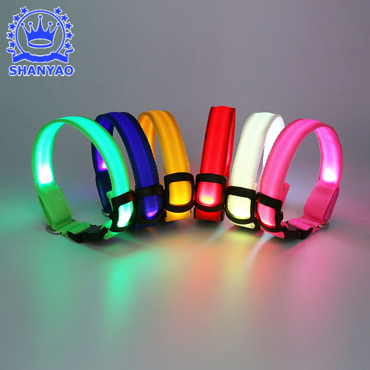 USB Charging Luminous Collar Dog LED Shining Collar LED Webbing Shining Collar Shining Pet Supplies