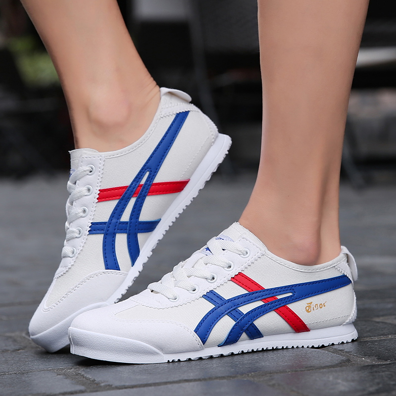 Couple Models Onitsuka Agan Shoes White Canvas Shoes Beige Ahgan Shoes Red Rest Shoes Men And Women Non-slip Sneakers Tide