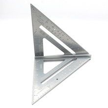 7 inch Multi-functional Aluminum Alloy Triangle Ruler Speed Square Angle Protractor for Woodworking Measurement Measuring Tool все цены