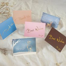 50pcs Small gift Message Card Writable card Decoration Thank you Best Wish Greeting Card Message Blessing Card