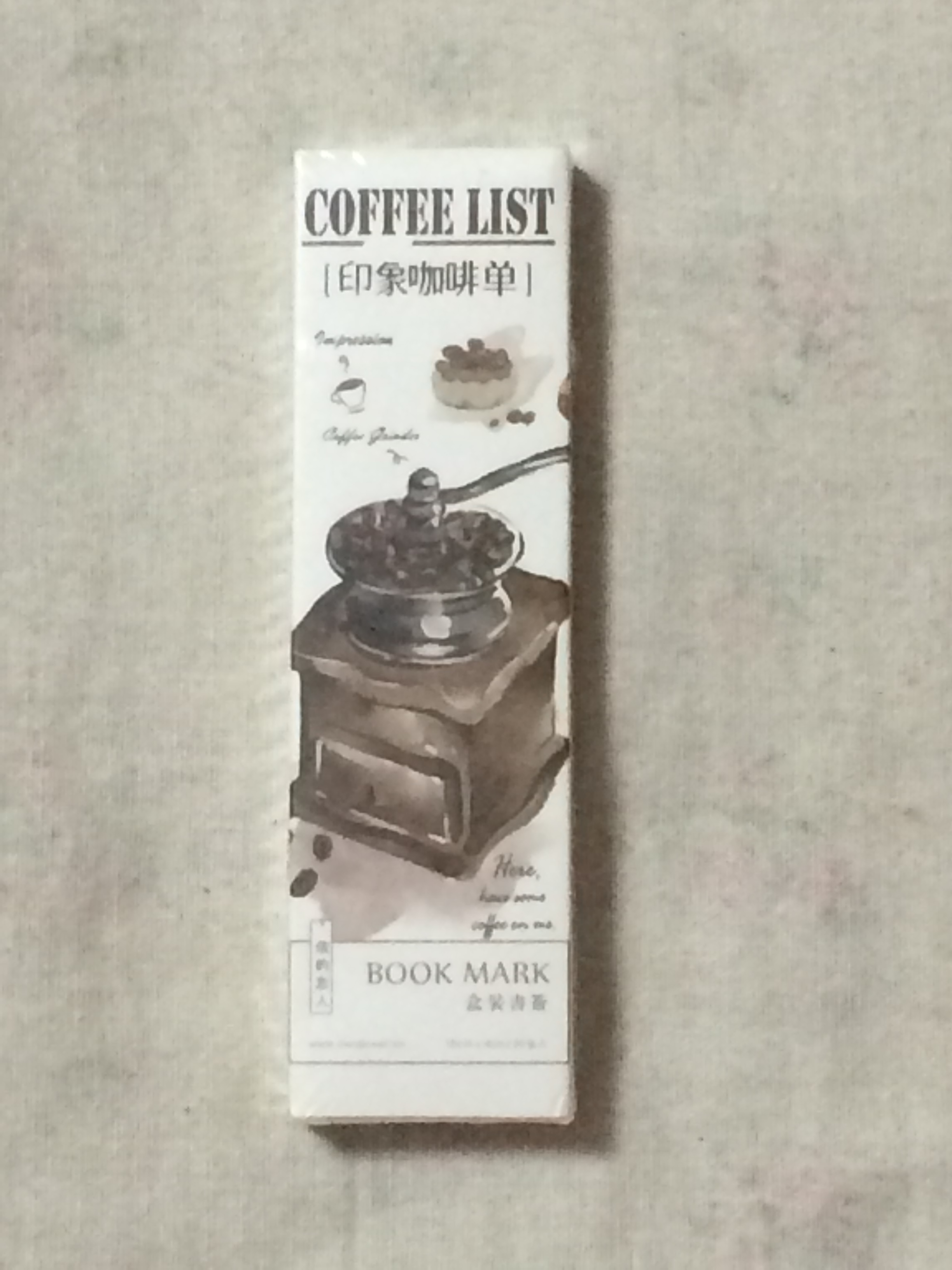 Coffee List Diy Paper Bookmark(1pack=30pieces)