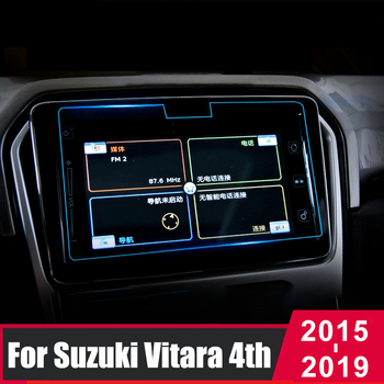 Tempered Glass Car Navigation Screen Protective Film For Suzuki Vitara 4th 2015 2016 2017 2018 2019 Control LCD Screen Sticker image