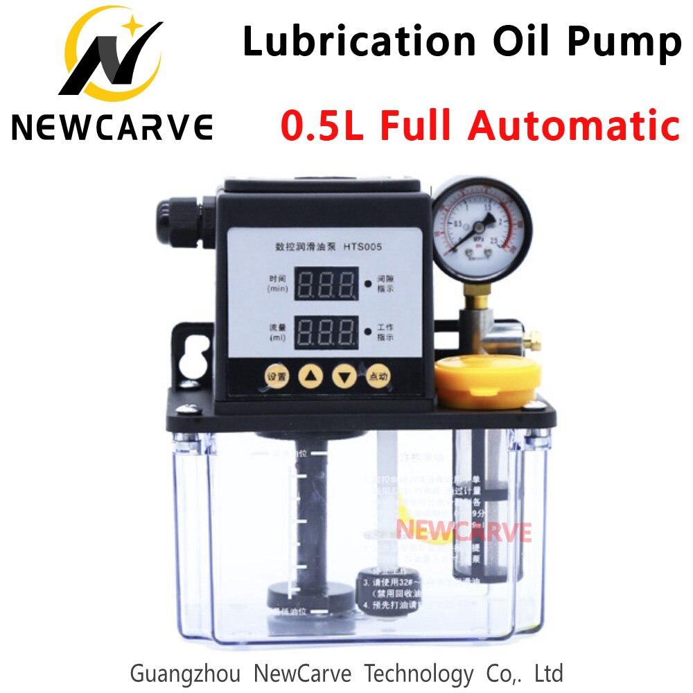 0.5L полностью автоматический смазочный масляный насос литров CNC электромагнитный смазочный насос лубрикатор HTS005 NEWCARVE