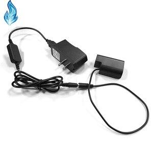 Image 3 - DMW BLF19 dummy סוללה DMW DCC12 DC מצמד + USB כבל מתאם + 5V3A כוח עבור Panasonic Lumix DMC GH3 GH4 GH5 מצלמות