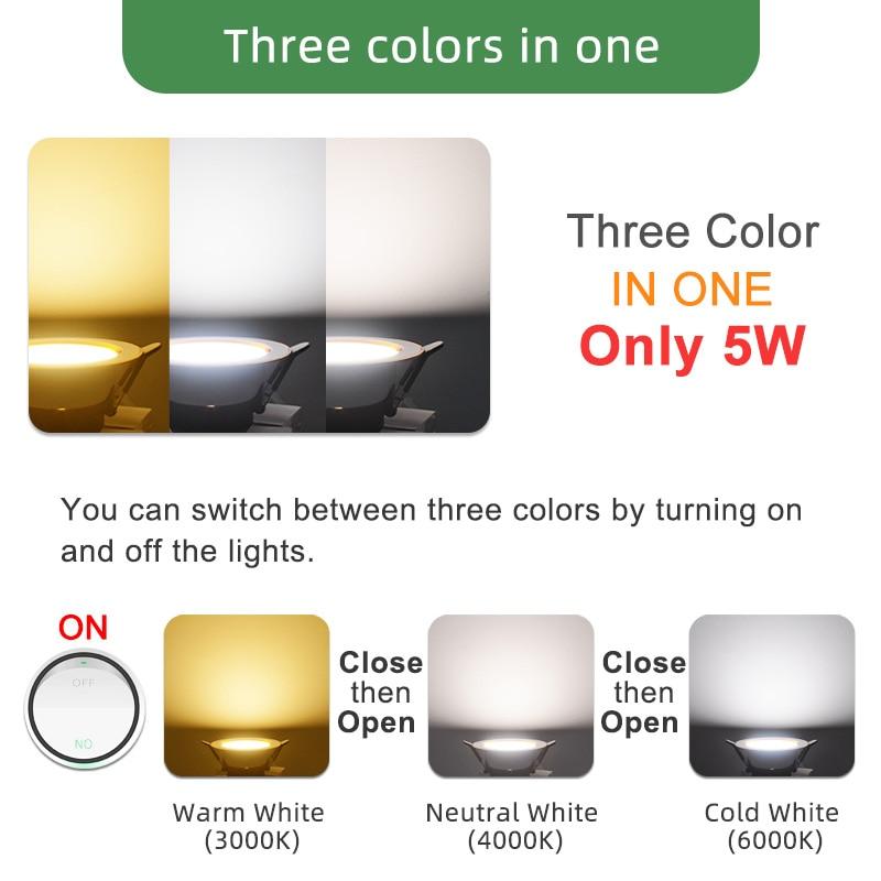 Image 3 - Kaguyahime 1/4pcs Downlight 3000k 4500K 6000K LED Spot Light 5w Indoor Recessed Lamp AC 220V LED Spotlight Gold Silver SurfaceLED Downlights   -