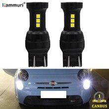 Светодиодсветодиодный лампа KAMMURI W21/5W CANBUS, без ошибок, светодиодная лампа 7443 T20 W21 5W для Fiat 2009-2016 дневные ходовые огни, дневные ходовые огни