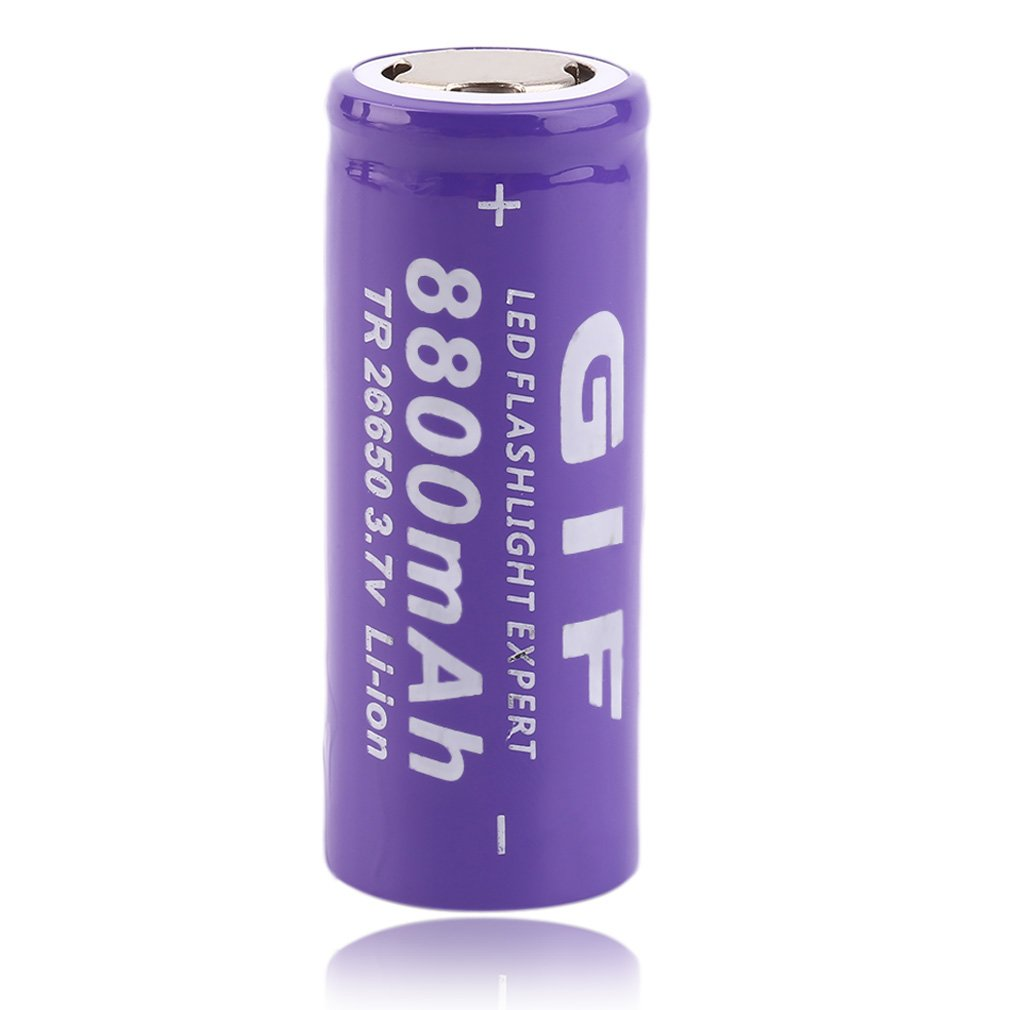 3.7V <font><b>26650</b></font> 8800mAh Li-ion Rechargeable <font><b>Battery</b></font> For LED Flashlight Torch Li-Ion Torch Safe and Environmental Friendly image