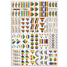 Gay pride Love Rainbow Pride Flag Stickers Ribbon - Parades Festival Party Favors Supplies Decorations