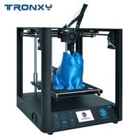 Mais novo 3d impressora tronxy d01 guia linear industrial titan extrusora design silencioso de alta precisão impressão máscara acrílica escolher