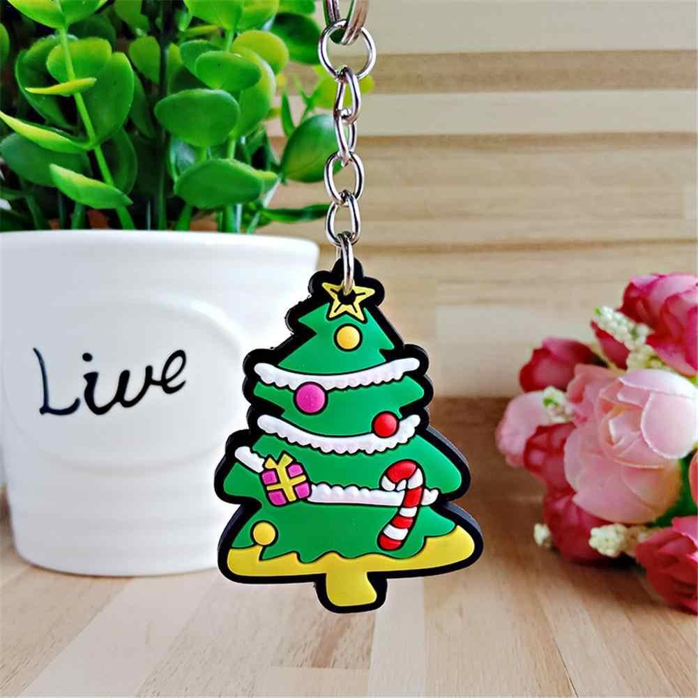 Рождественский Санта ПВХ мягкий пластиковый резиновый брелок Рождественская елка кулон для мужчин и женщин