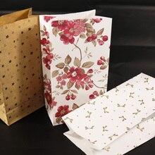 5 шт. Цветочная бумага вертикально стоящий пакет бумажный пакет сувенир открытая верхняя бумага для упаковки подарка обработайте Подарочный пакет канцелярские принадлежности Упаковка