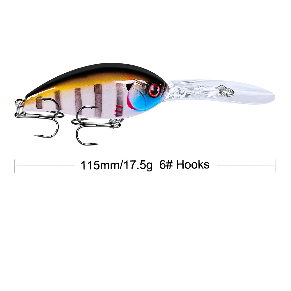 Crankbait Fishing Wobblers 115mm 17 5g Artificial Hard Baits 3D Eyes Jerkbait Fishing Lures carp Fishing Tackle YG032 in Fishing Lures from Sports Entertainment