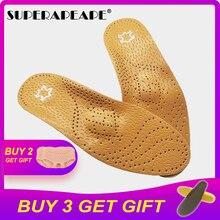 Высококачественная кожаная ортопедическая стелька для плоскостопия, поддержка стопы, ортопедическая обувь, стельки для ног для мужчин и женщин, бычья нога