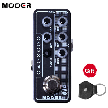 Mooer M010 Two Stones Electric Guitar Effects Pedal Stompbox Accessories Speaker Cabinet Simulation High Gain Tap Tempo Bass