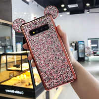 Luxury Bling Glitter 3D Cartoon Mouse Ears Soft TPU Case For Samsung Galaxy S8 S7 Edge S6 S9 Plus Cover Phone Bags Coque Caqa