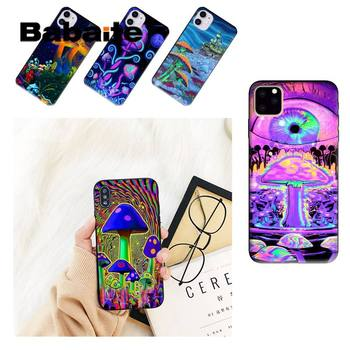 Babaite Trippy Mushroom Psychedelic Art Phone Case For iPhone 8 7 6 6S Plus X XS MAX 5 5S SE XR 11 11pro promax 12 12Pro Promax image