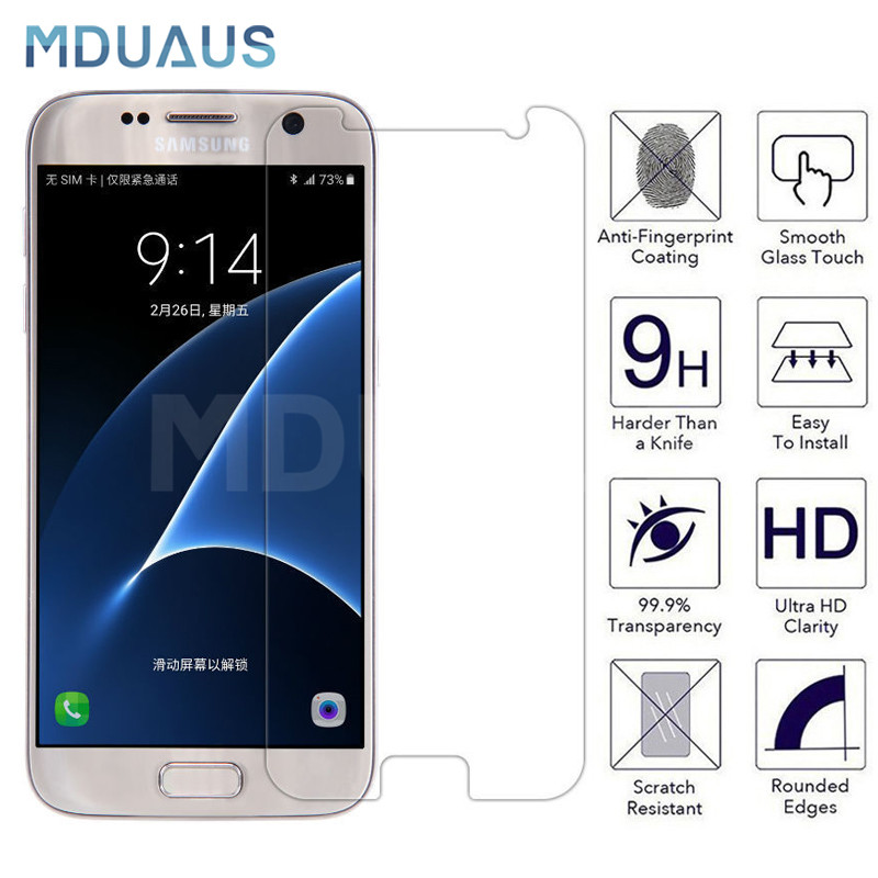 9H Protective Glass On The For Samsung Galaxy S7 S6 Note 5 4 3 Samsung S5 S4 S3 Mini Tempered Screen Protector Glass Film Case