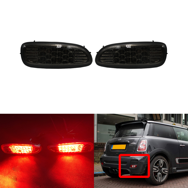 Rear Fog Lamp Universal Red Lens Without Bulb Driving Lights Replacement Part