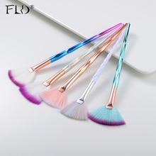 FLD Professionele Make Up Borstel Diamond Gezicht Fan Powder Brush Hoge Kwaliteit Make Up Tool Blush Kit