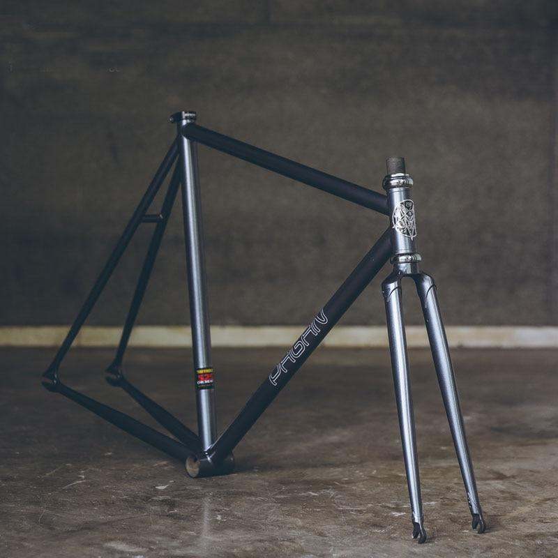 Fixie Bike Frame 525 Pipe Chrome Molybdenum Steel Reynolds One Speed Fixed Gear Bike Frame Customize Bicycle 50cm 53cm 55cm