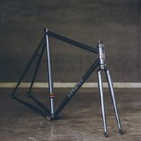 fixie bike frame 525 pipe Chrome molybdenum steel Reynolds one speed fixed gear bike frame customize bicycle 50cm 53cm 55cm|Bicycle Frame| |  -