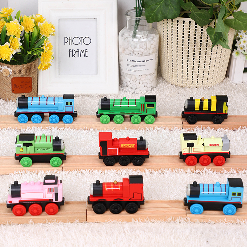 EDWONE Thomas And Friends James Engine Gordon Henry Belle Mini Wooden Trains Railway Brio Thomas Wood Train Toys For Kids Gift