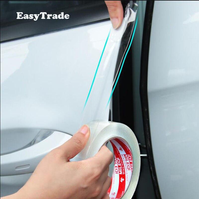 Para Skoda Kodiaq 2017 2018 2019 Acessórios Estilo Do Carro Adesivos de Carro Protetor de Soleira Da Porta de Borracha Bens adesivo Transparente