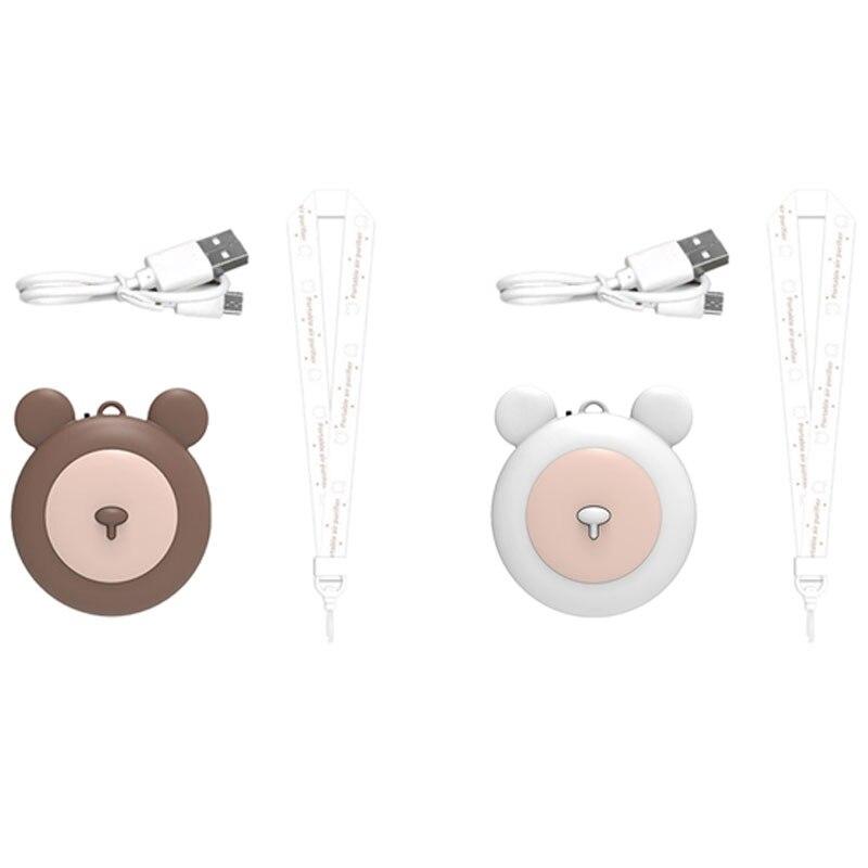 Ожерелье для воздухоочистителя, 2 комплекта, USB, портативный мини-ионизатор воздуха, низкий уровень шума, без излучения, белый и коричневый