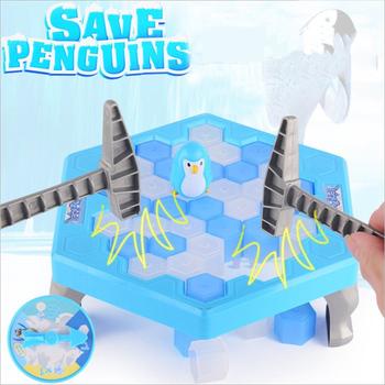 Mini Penguin Trap gra planszowa Ice Breaking Save The Penguin Party Game interaktywna rozrywka dla rodziców i dzieci zabawki stołowe prezent dla dzieci tanie i dobre opinie OLOEY 8 ~ 13 Lat 2-4 lat 5-7 lat Mini Parent-child Game Zwierzęta i Natura Zawodów Blue Penguin 16 5*16*3 5cm Family game party games